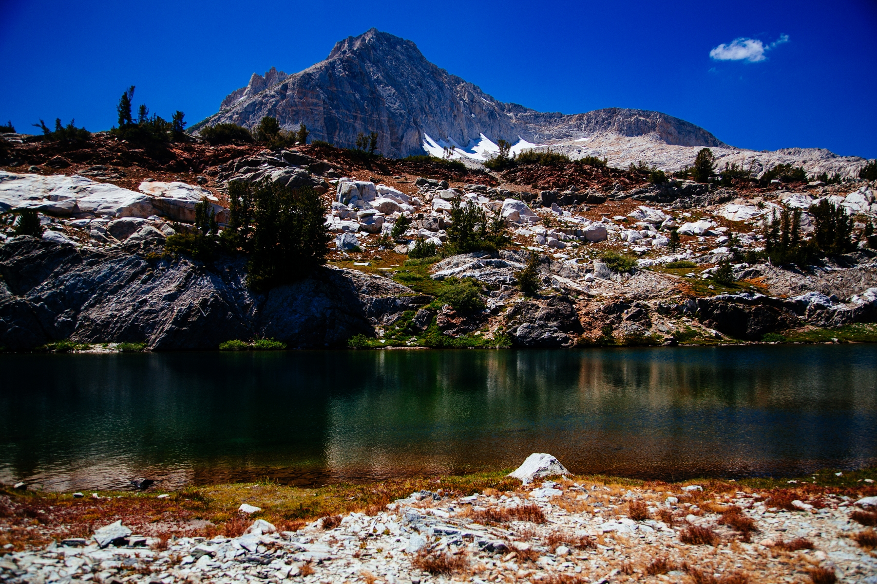 Beautiful mountain lake.